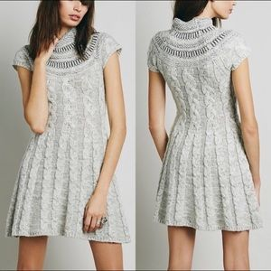 (Free People) Nordic Lights Knit Cable Dress